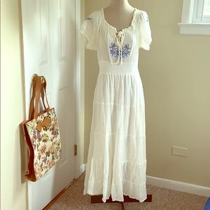 Maxi Embroidered Dress